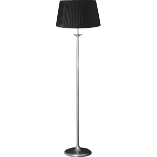 Elegance Floor Stand - Satin Nickel With Shade