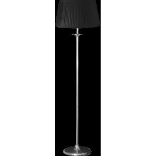 Elegance Floor Stand - Satin Nickel With Shade