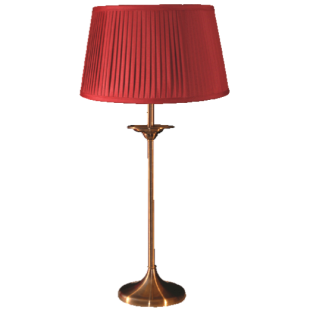 Elegance Table Lamp Medium - Antique With Shade
