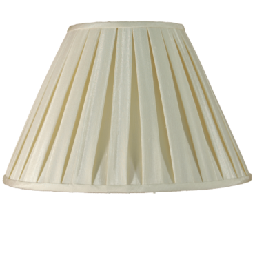 Cream Box Pleat 12""