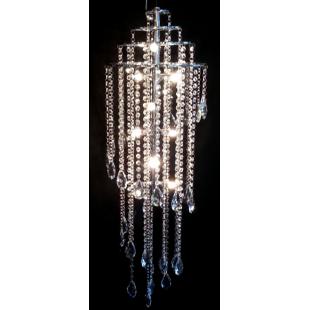 Taurus 9 Modern Chrome & Crsytal Light