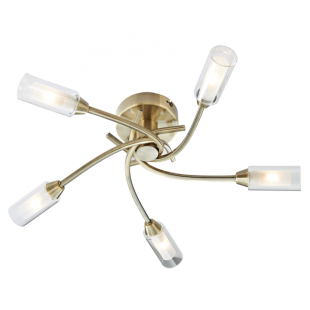 Canarina 5 Flush Ceiling Light - Antique