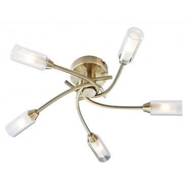 Canarina 5 Flush Ceiling Light - Antique