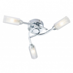 Canarina 3 Flush Ceiling Light - Chrome