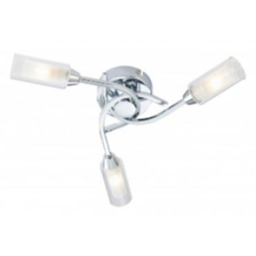 Canarina 3 Flush Ceiling Light - Chrome