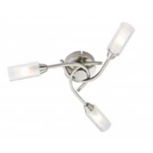 Canarina 3 Flush Ceiling Light -Satin Nickel
