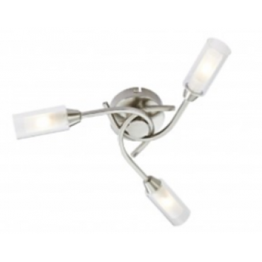 Canarina 3 Flush Ceiling Light -Satin Nickel