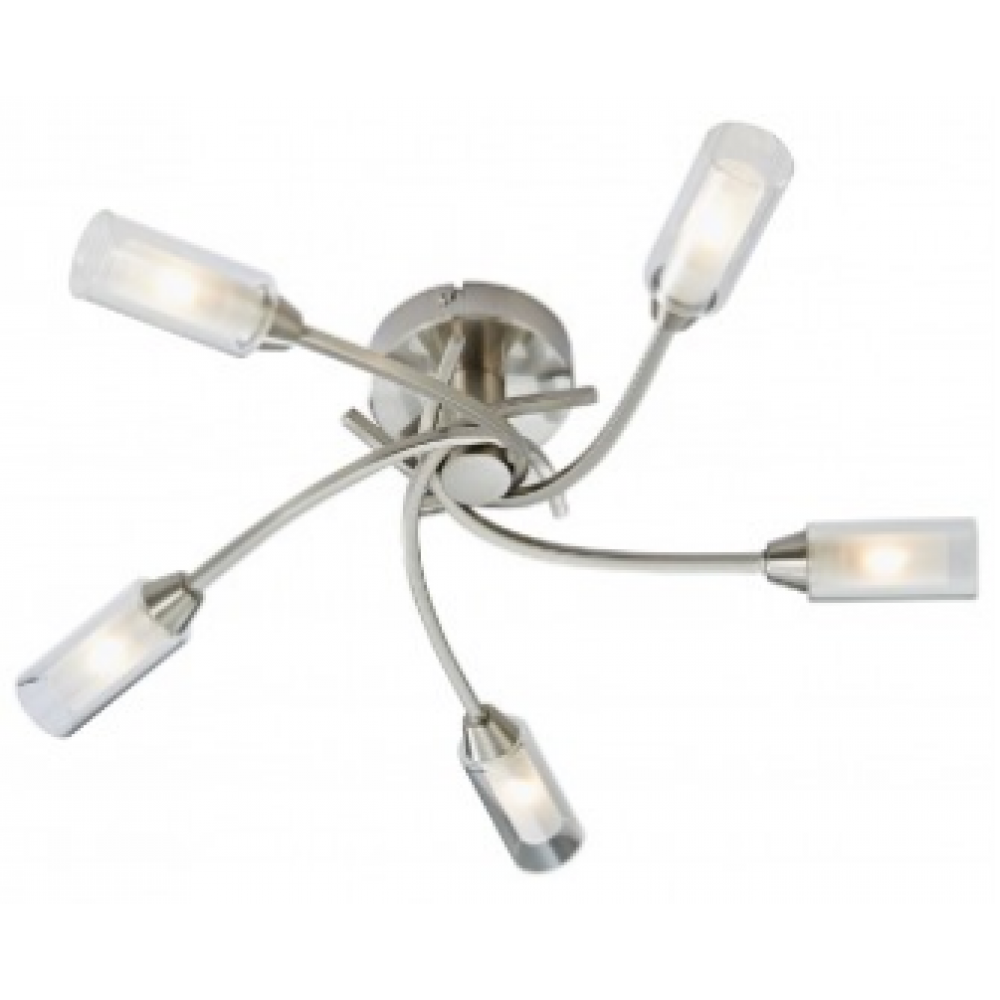 Canarina 5 Flush Ceiling Light -Satin Nickel