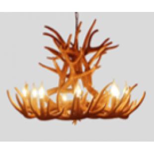 Deer 8 Light Unique Ceiling Light Brown