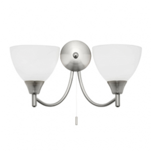 Dewberry 2 Light Wall - Satin Nickel