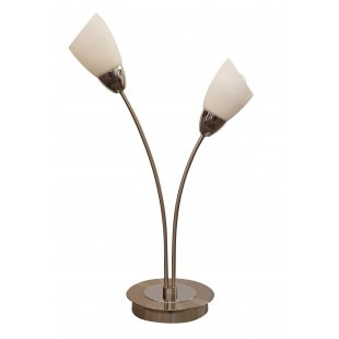Furama 2 Light Table Lamp - Satin Nickel