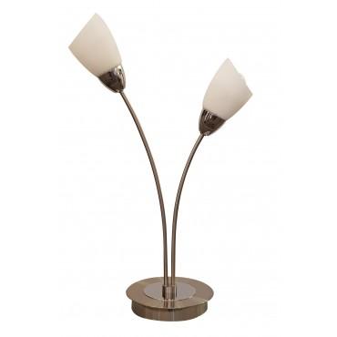 Furama 2 Light Table Lamp - Satin Nickel