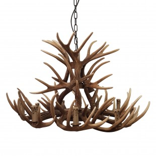 Deer 9 Light Unique Ceiling Light Brown