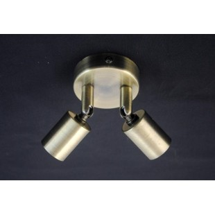 Austin 2 Light Plate - Antique Brass