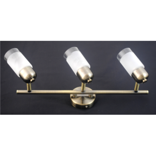 Detroit 3 Bar Light - Antique Brass