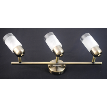 Detroit 3 Bar Light - Antique Brass