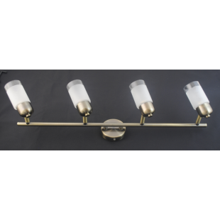 Detroit 4 Bar Light - Antique Brass