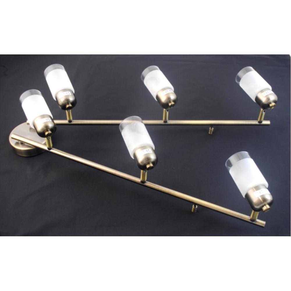 Detroit 6 Bar Light - Antique Brass