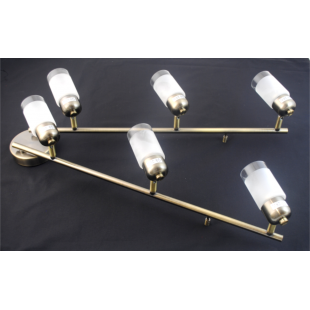 Detroit 6 Bar Light - Antique Brass