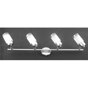 Detroit 4 Bar Light - Satin Nickel