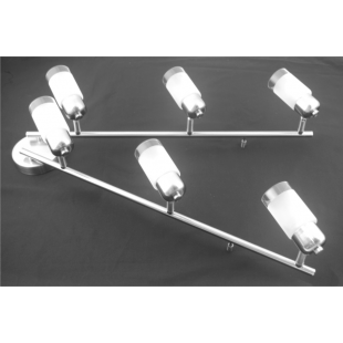 Detroit 6 Bar Light - Satin Nickel